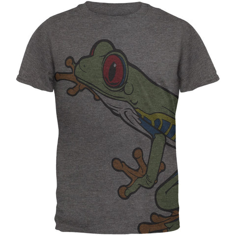 Big Tree Frog All Over Dark Heather Soft Adult T-Shirt