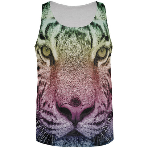 Rainbow Tiger All Over Adult Tank Top