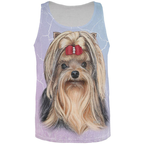 Yorkshire Terrier Live Forever All Over Adult Tank Top