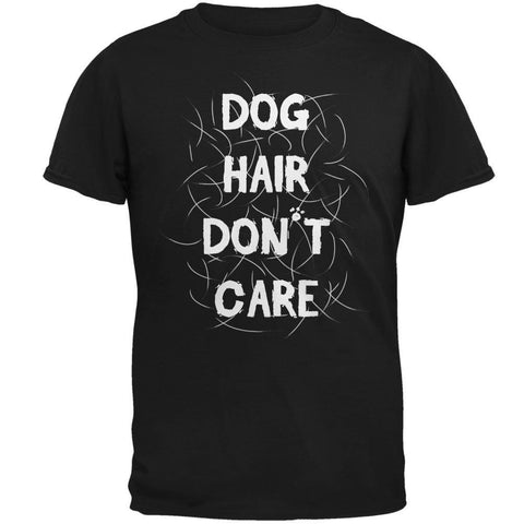 Dog Hair Don't Care Black Adult T-Shirt