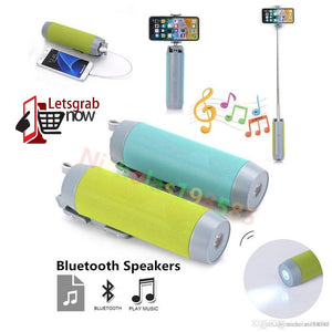 5 in 1 Bluetooth Speaker, Selfie Stick, Power Bank, mobile holder and torch