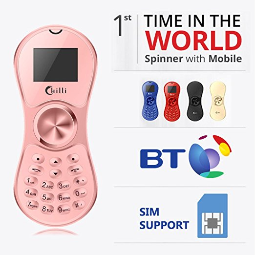 Spinner Phone World's Slimmest Mobile Phone Cum Spinner Credit Card Sized - Random color