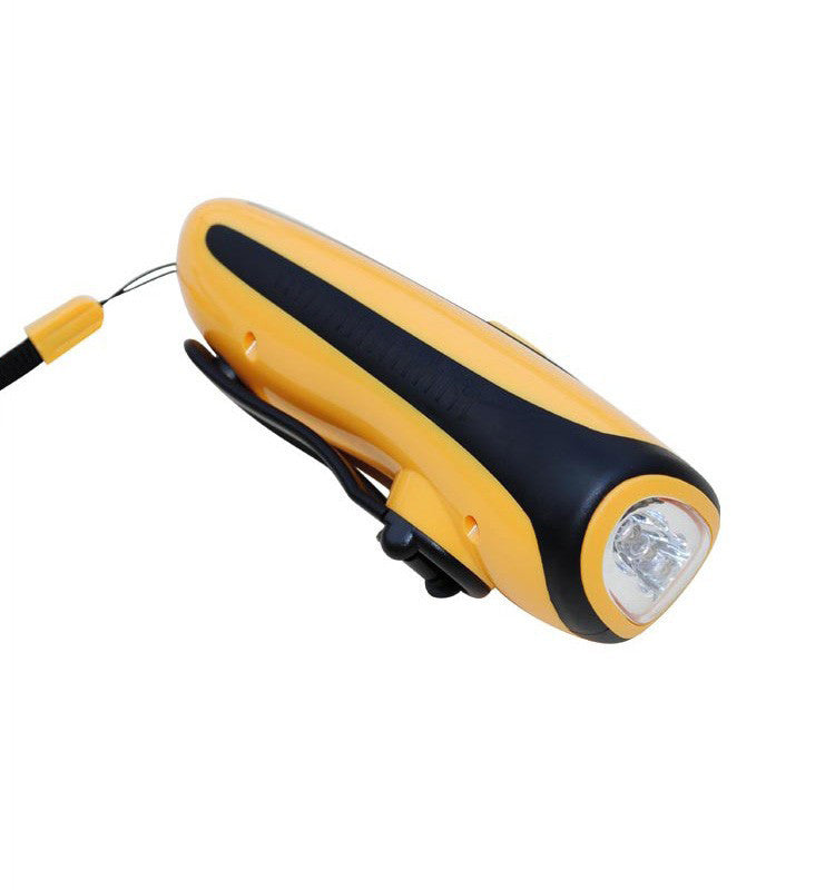 No Electricity Crank Charger With Flash Light