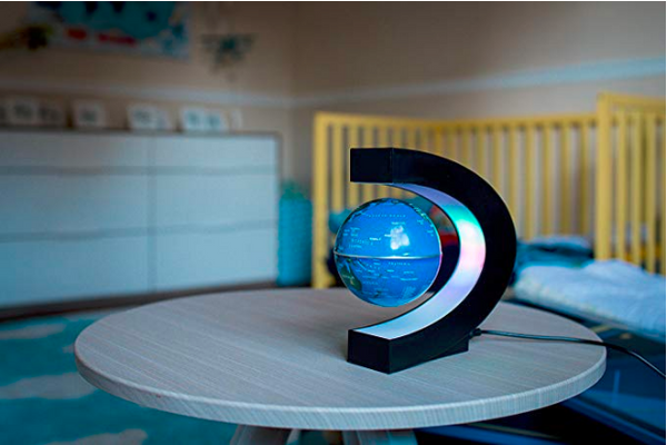 Magnetic Mini Floating Blue Globe Light