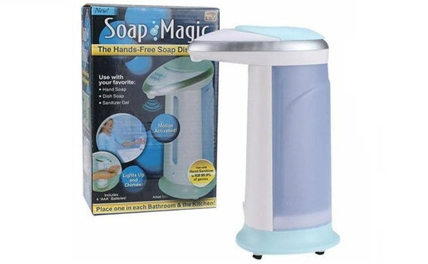 INFRARED AUTOMATIC HAND SOAP DISPENSER WITH LED LIGHT GLOW ( NO NEED TO TOUCH)
