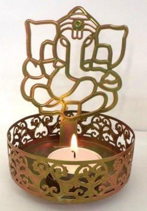 Shiny Candles for decoration and lighting Shadow - Design available - LUXMI and GANESHA JI