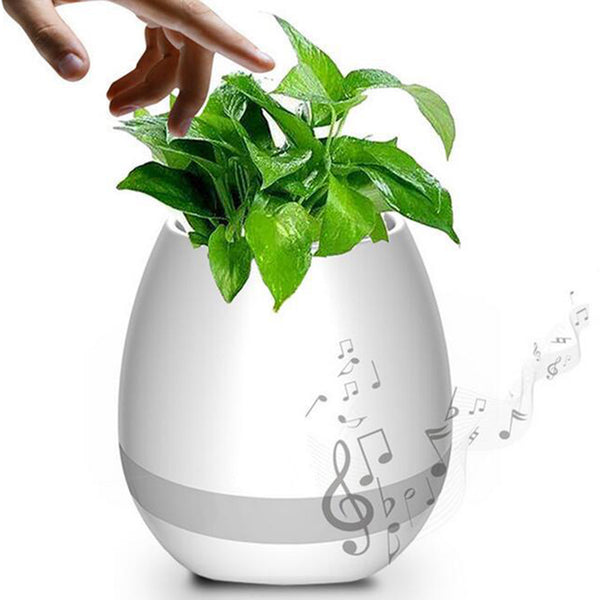 Creative Smart Music Flower Pots Bluetooth Speaker Play The Piano Decoration Planter Night Light Touch Sensors