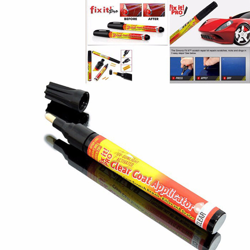 New Fix It Pro New Car Scratch Repair Remover Pen Paint Applicator for ford focus 2 3 Hyundai VW Mazda 2 3