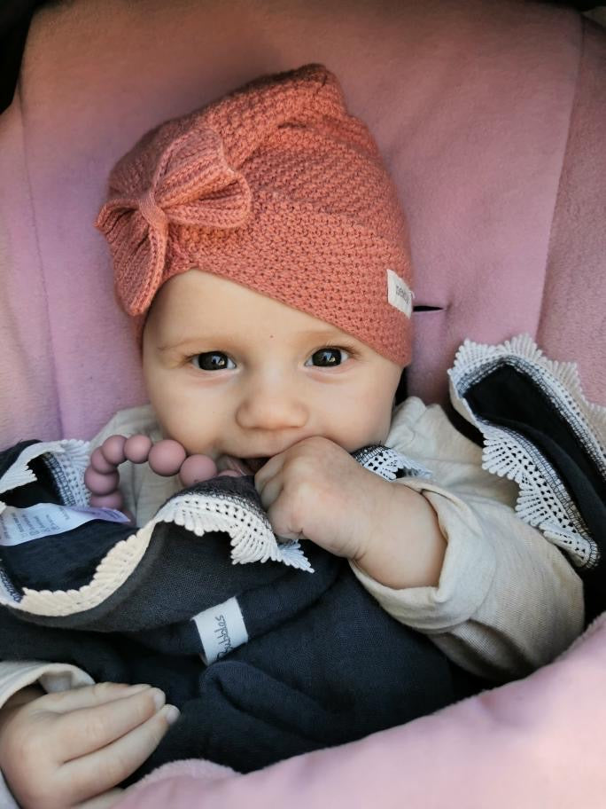Dusty Rose Pacifier Clip