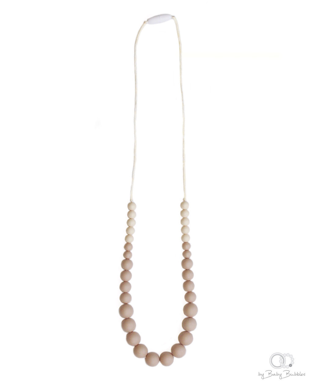 Beige silicone teething necklace