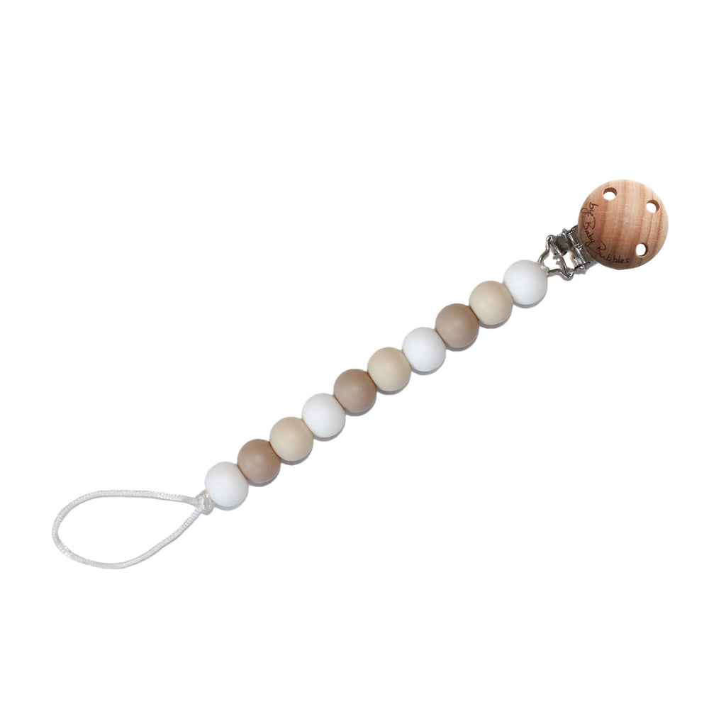 Toasted Marshmallows Pacifier Clip