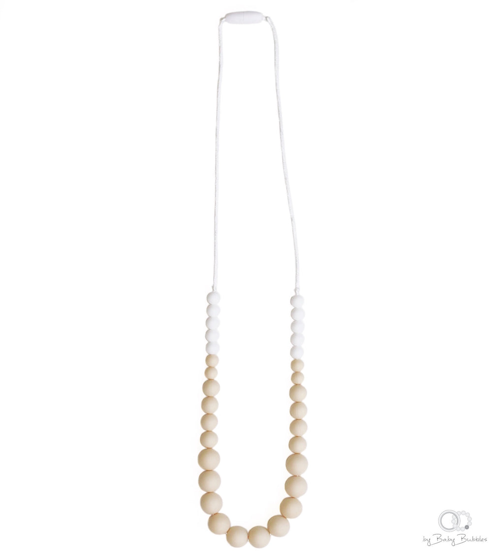 Simple Cream Teething Necklace