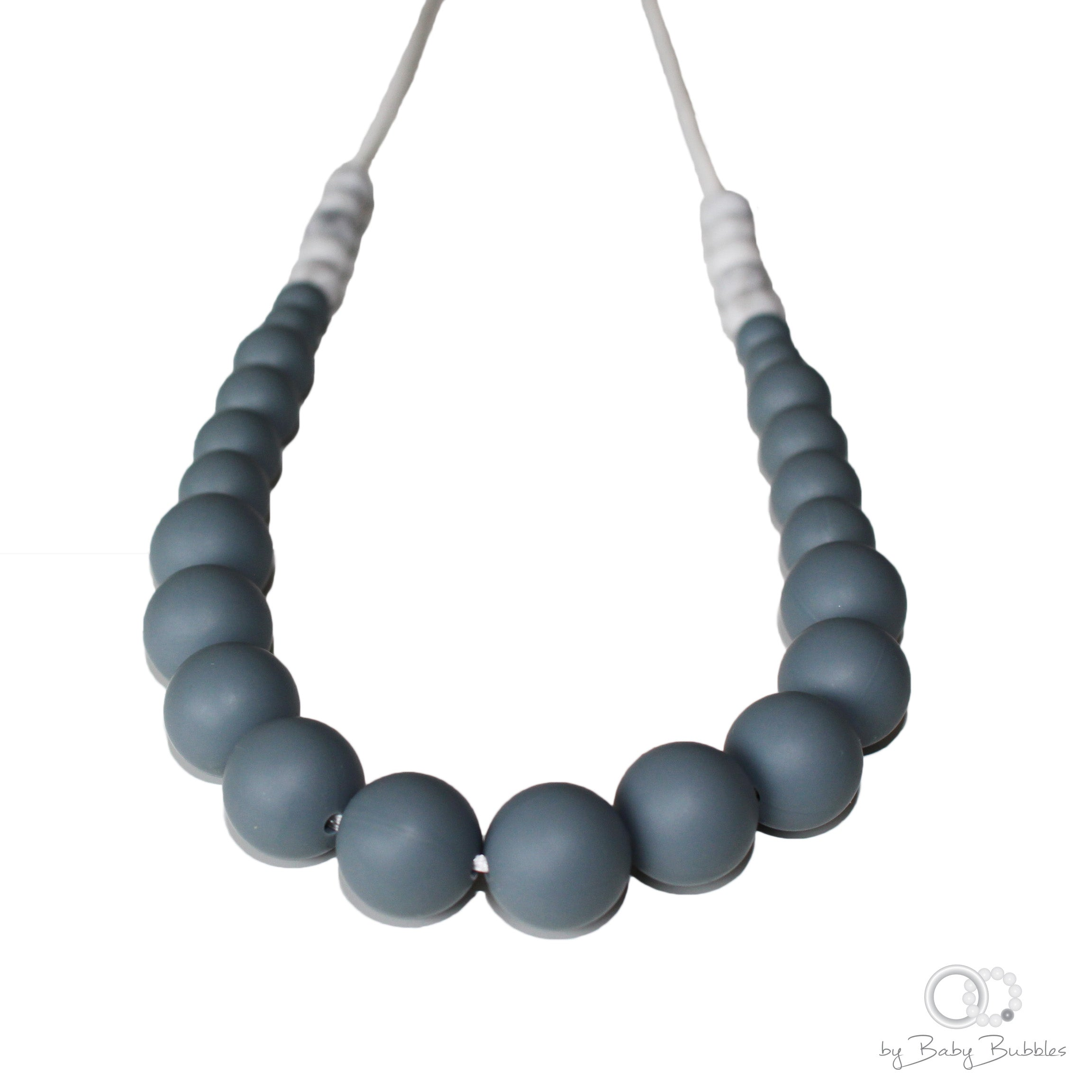 Dark grey silicone baby nursing necklace