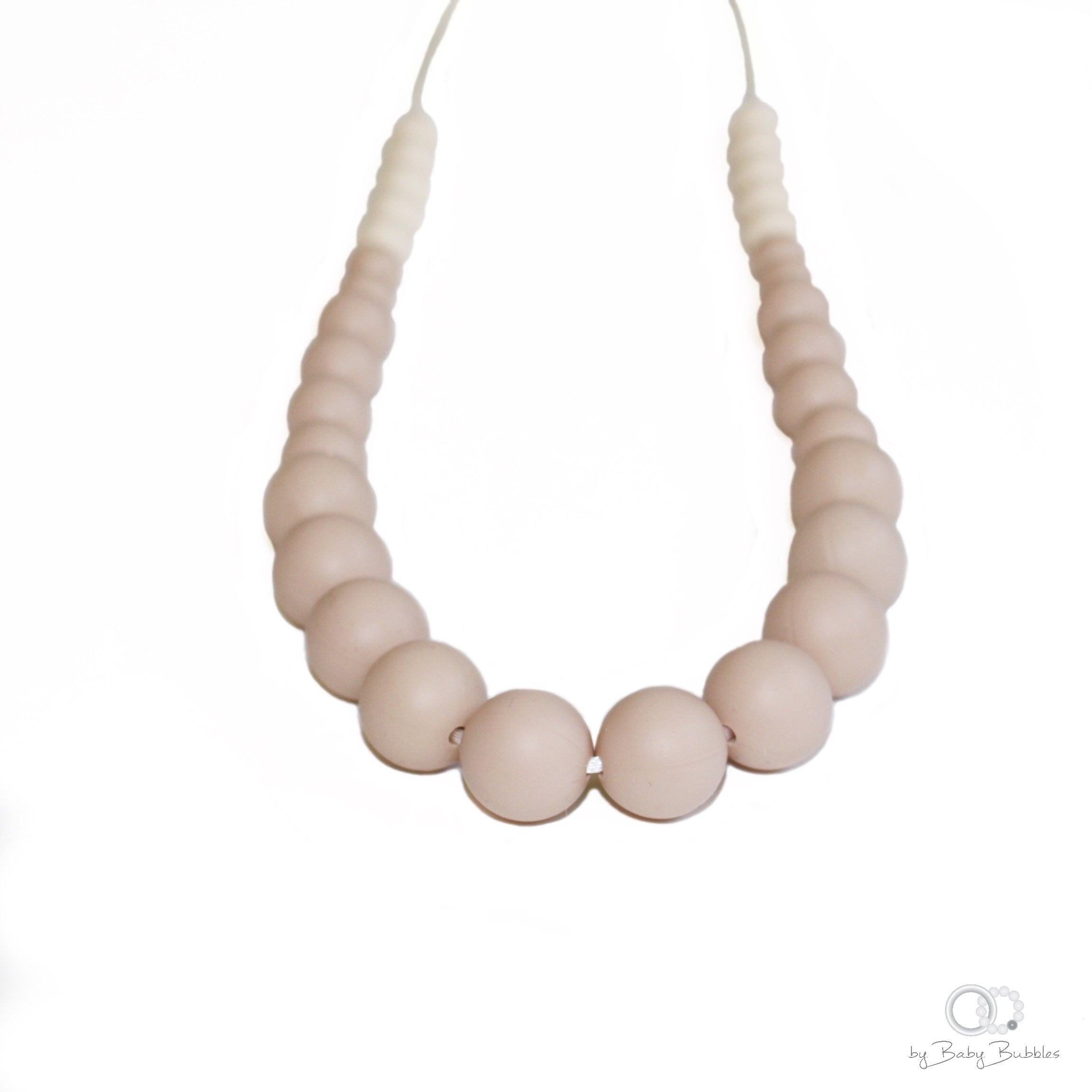 Sand colored silicone nursing necklace