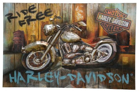 HARLEY DAVIDSON H-D Ride Free Wall Art