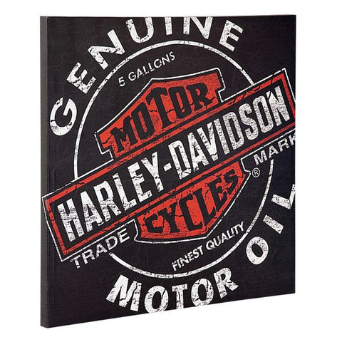 HARLEY DAVIDSON H-D Oil Can Canvas Print