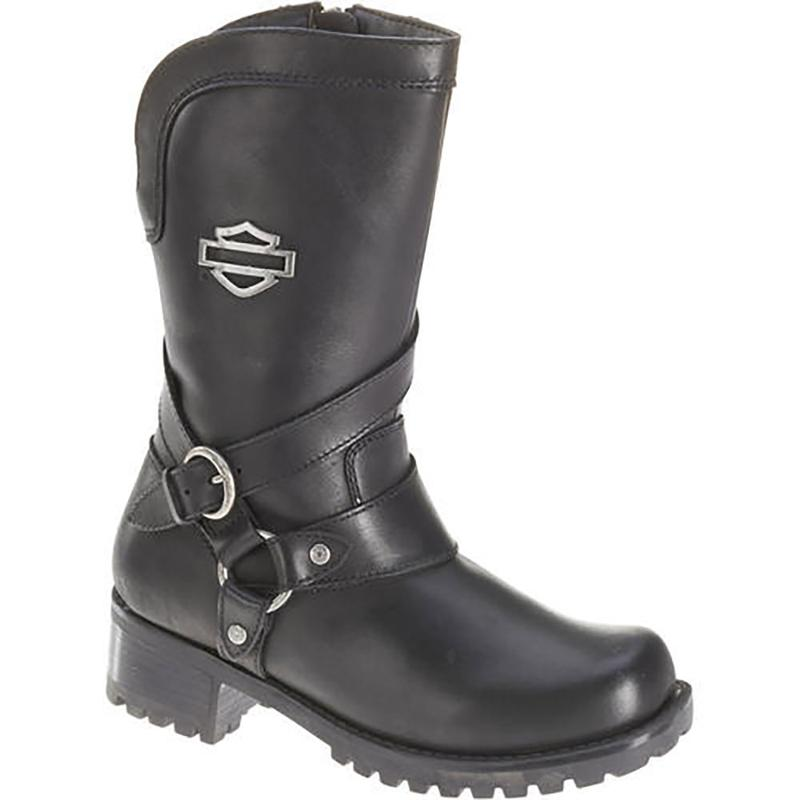 Harley-Davidson Womens Amber Boot - Black - d85514