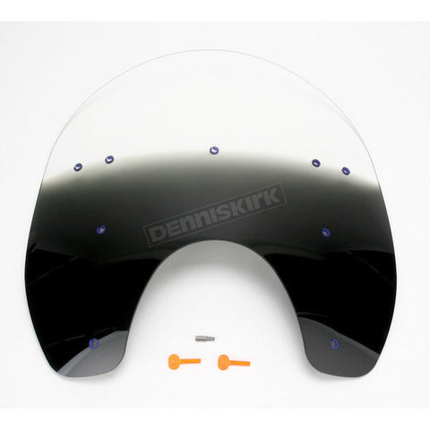 Gradient Black Plastic Windshield for Harley Detachable - Replacement - 2310-012