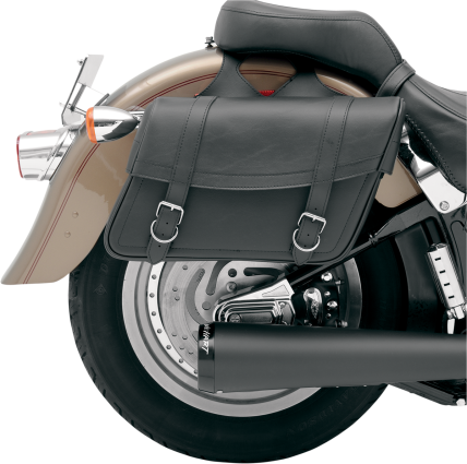 Throw-Over Highwayman Slant Style Universal SaddleHyde Saddlebags, Medium - 3501-0088
