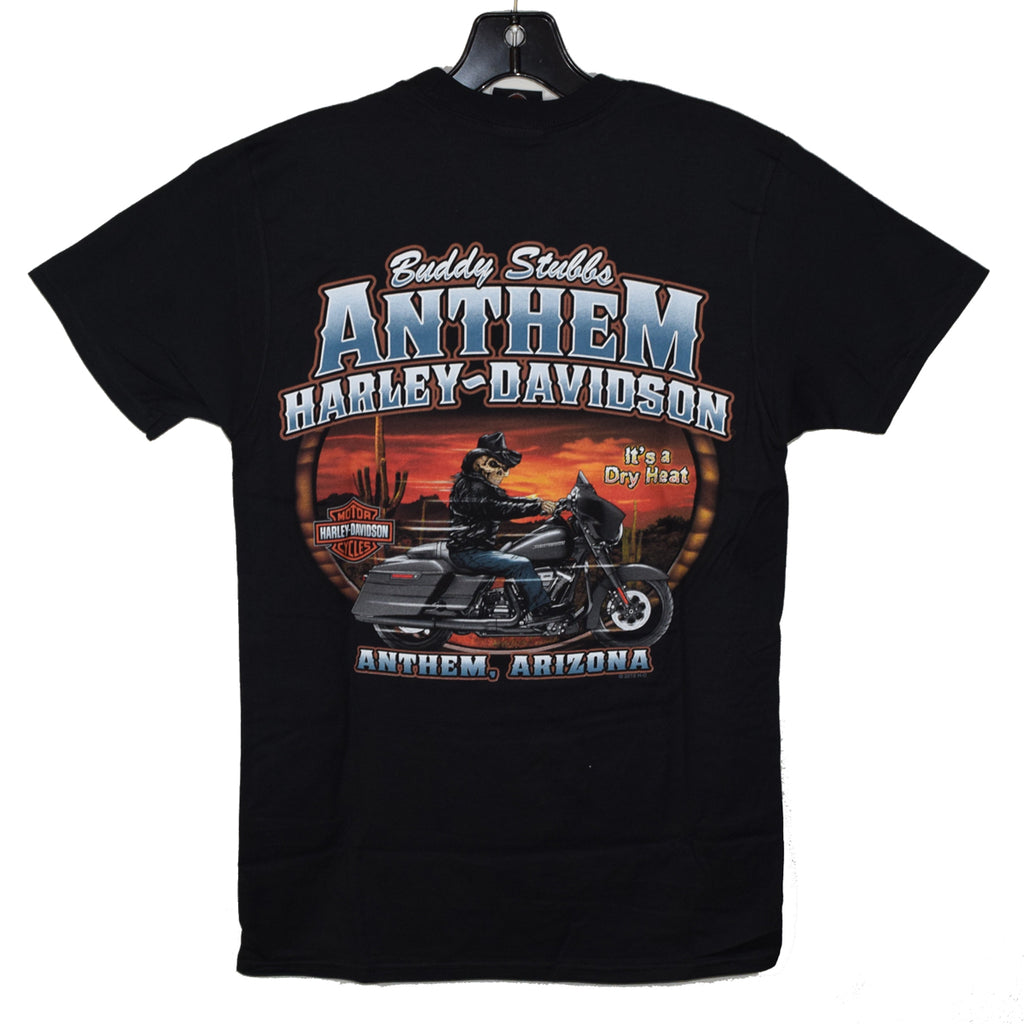 Custom Buddy Stubbs Anthem Harley-Davidson imprint It's a Dry Heat