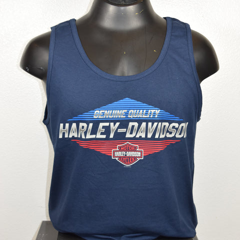 Harley-Davidson Save Chrome Men's Tank Blue
