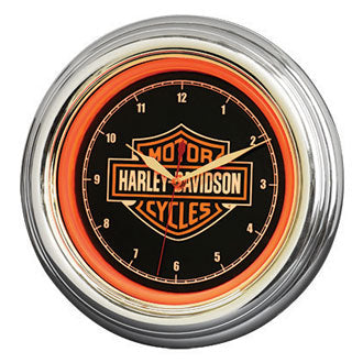 H-D Bar & Shield LED Clock