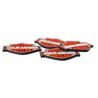 H-D B&S Rubber Coaster Set