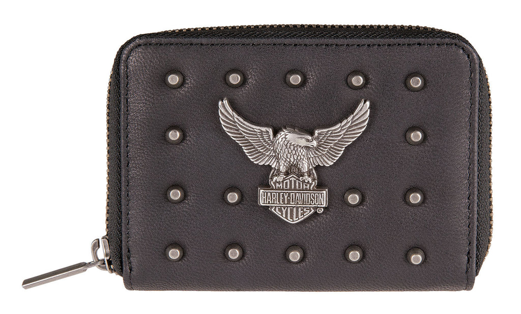 Women's Harley-Davidson Nothing But Trouble Small Wallet, Black - HDWBA11240-BLK