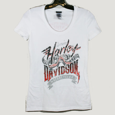 Womens Harley-Davidson Core of Fate Tee - White