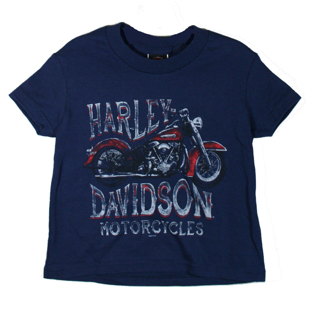 Harley-Davidson Boys Champion Rider Tee - Navy Short Sleeve