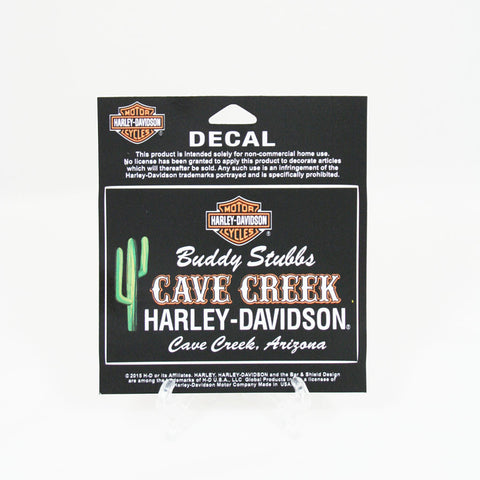 Buddy Stubbs Cave Creek Harley-Davidson Logo Decal