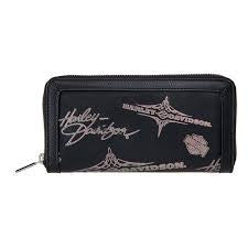 Women's Harley-Davidson Sliver Flash Wallet, Black - HDWWA11073-BLK