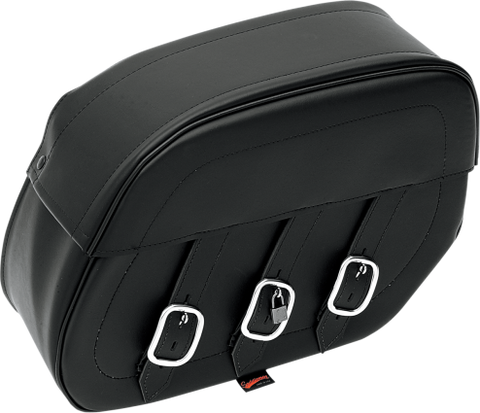 Rigid-Mount Universal Drifter Slant Leather Saddlebags