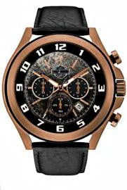 Harley-Davidson Men's Bar & Shield Tumbled Amber Chronograph Watch 78B148, By Bulova