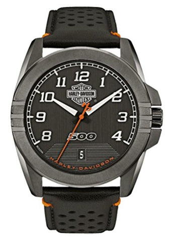 Harley-Davidson® Men's Jet Black Watch 78B143, By Bulova