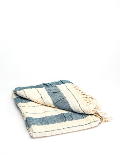 Traditional Stripe Blue Cream