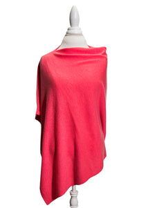 Hibiscus Wool and Cashmere Poncho