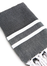 Hand Towel Traditional Stripe Black