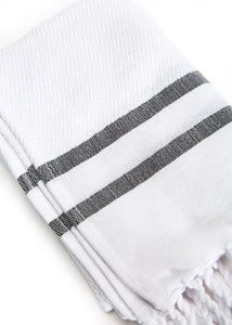 Hand Towel Traditional Stripe White