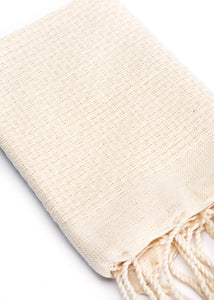 Hand Towel Solid Weave Cream