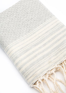 Hand Towel Traditional Stripe Slate