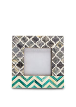 Teal and Grey Moroccan Frame