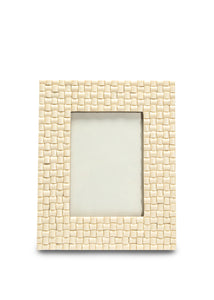 Criss Cross Chevron Ivory Frame