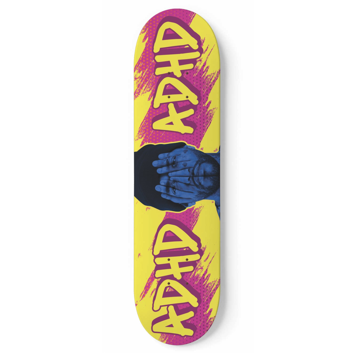 ADHD Yellow Skate Deck