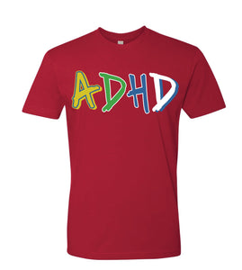 Red ADHD T-shirt + Instant ADHD Digital Download