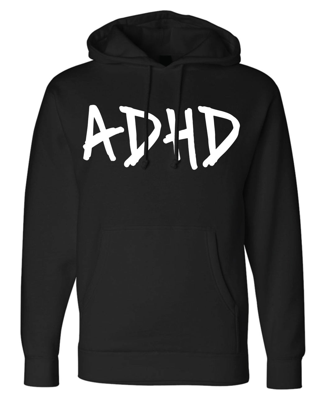 Black ADHD Hoodie + Instant ADHD Digital Download