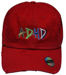 Red ADHD Dad Hat + Instant ADHD Digital Download