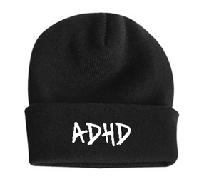 Black ADHD Beanie + Instant ADHD Digital Download