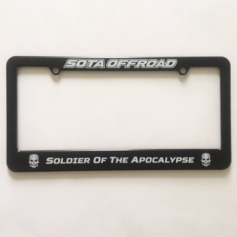 SOTA Offroad - Soldier Of The Apocalypse License Plate Frame