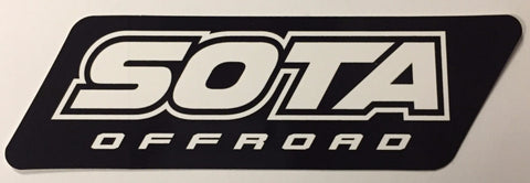 SOTA Offroad Small Black & White Sticker